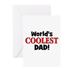 World's Coolest Dad! Greeting Cards (Pk of 10)