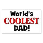 World's Coolest Dad! Rectangle Sticker