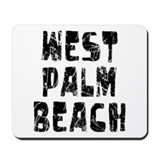 West Palm Be.. Faded (Black) Mousepad