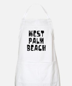 West Palm Be.. Faded (Black) BBQ Apron