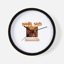 Daniel Says Raaawr (Lion) Wall Clock