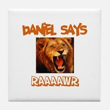 Daniel Says Raaawr (Lion) Tile Coaster