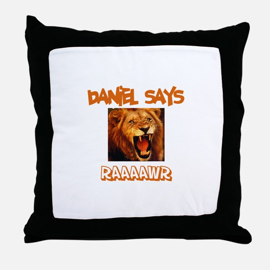 Daniel Says Raaawr (Lion) Throw Pillow