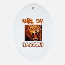 Daniel Says Raaawr (Lion) Oval Ornament