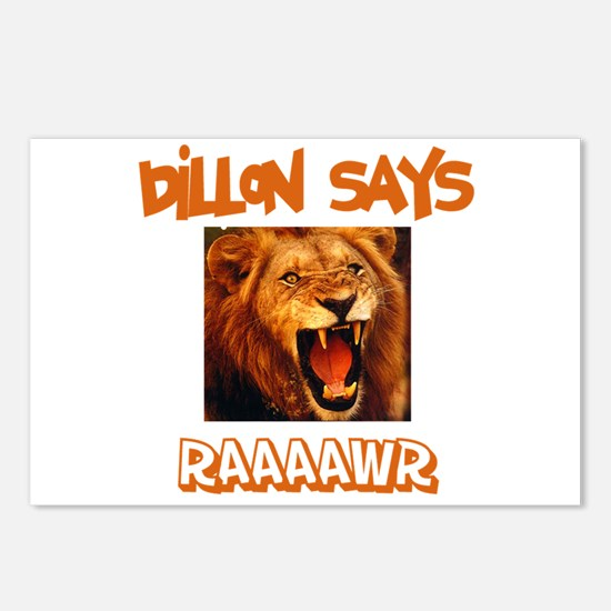 Dillon Says Raaawr (Lion) Postcards (Package of 8)
