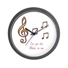 Music In Me Wall Clock
