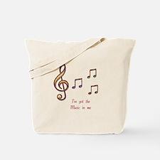 Music In Me Tote Bag