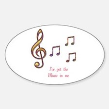 Music In Me Oval Decal