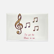 Music In Me Rectangle Magnet