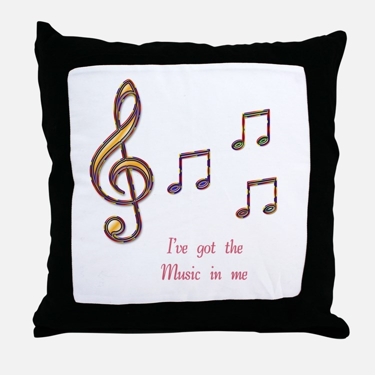 Music In Me Throw Pillow