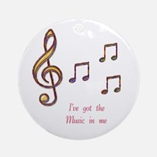 Music In Me Ornament (Round)