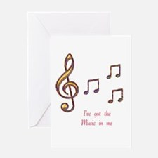 Music In Me Greeting Card