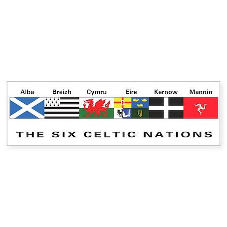 Celtic Nations Bumper Sticker