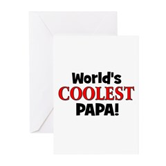 World's Coolest Papa! Greeting Cards (Pk of 10)