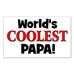 World's Coolest Papa! Rectangle Decal