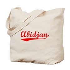 Vintage Abidjan (Red) Tote Bag