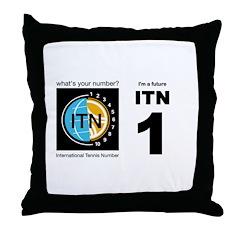 International Tennis Number Throw Pillow