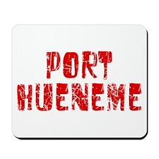 Port Hueneme Faded (Red) Mousepad