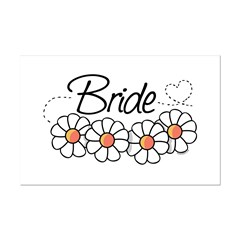 Daisy Heart Bride Posters