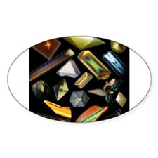 Space Crystals Oval Decal