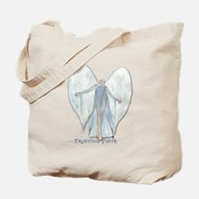 Angel, trusting faith Tote Bag