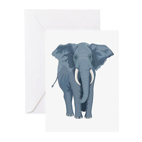 Grey Elephant Greeting Cards (Pk of 10)