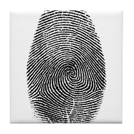 Fingerprint Tile Coaster