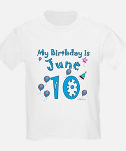 June 10th Birthday T-Shirt