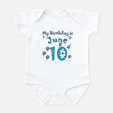 June 10th Birthday Infant Bodysuit