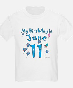 June 11th Birthday T-Shirt