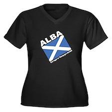 Alba Women's +Size V-Neck Black TS