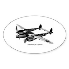 P-38 Lightning Oval Decal