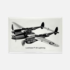 P-38 Lightning Rectangle Magnet