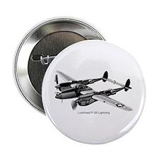 "P-38 Lightning 2.25"" Button"