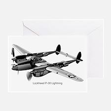 P-38 Lightning Greeting Card