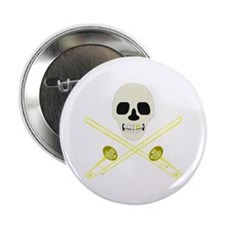 "Skull and Cross'bones 2.25"" Button"
