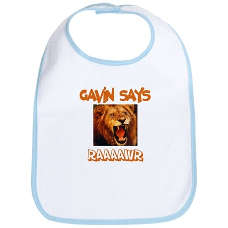 Gavin Says Raaawr (Lion) Bib