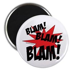 "BLAM! BLAM! BLAM! 2.25"" Magnet (100 pack)"