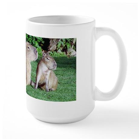 Capybara Mom and Son Large Mug