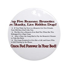 Top 5 Countdown Brunettes Ornament (Round)
