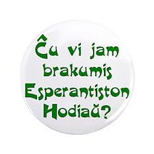 """Hug an Esperantist 3.5"""" Button"""