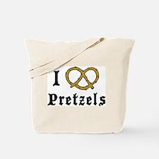 I Love Pretzels Tote Bag