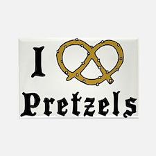 I Love Pretzels Rectangle Magnet