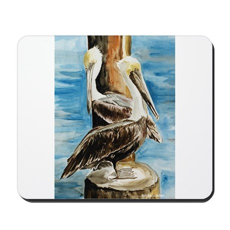 Brown Pelicans Mousepad