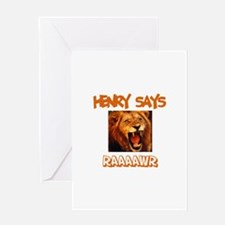 Henry Says Raaawr (Lion) Greeting Card