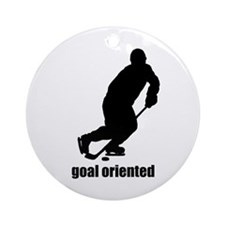 Goal Oriented Hockey Ornament (Round)