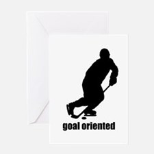 Goal Oriented Hockey Greeting Card