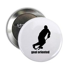 "Goal Oriented Hockey 2.25"" Button"