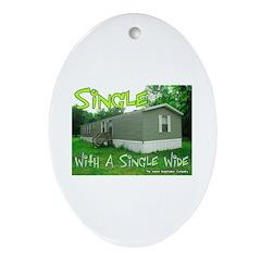 Single With a Single Wide Keepsake (Oval)