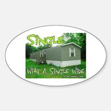 Single With a Single Wide Oval Decal